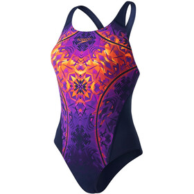speedo GemstoneFlash Recordbreaker Swimsuit Women Navy/Diva/Fluo Orange